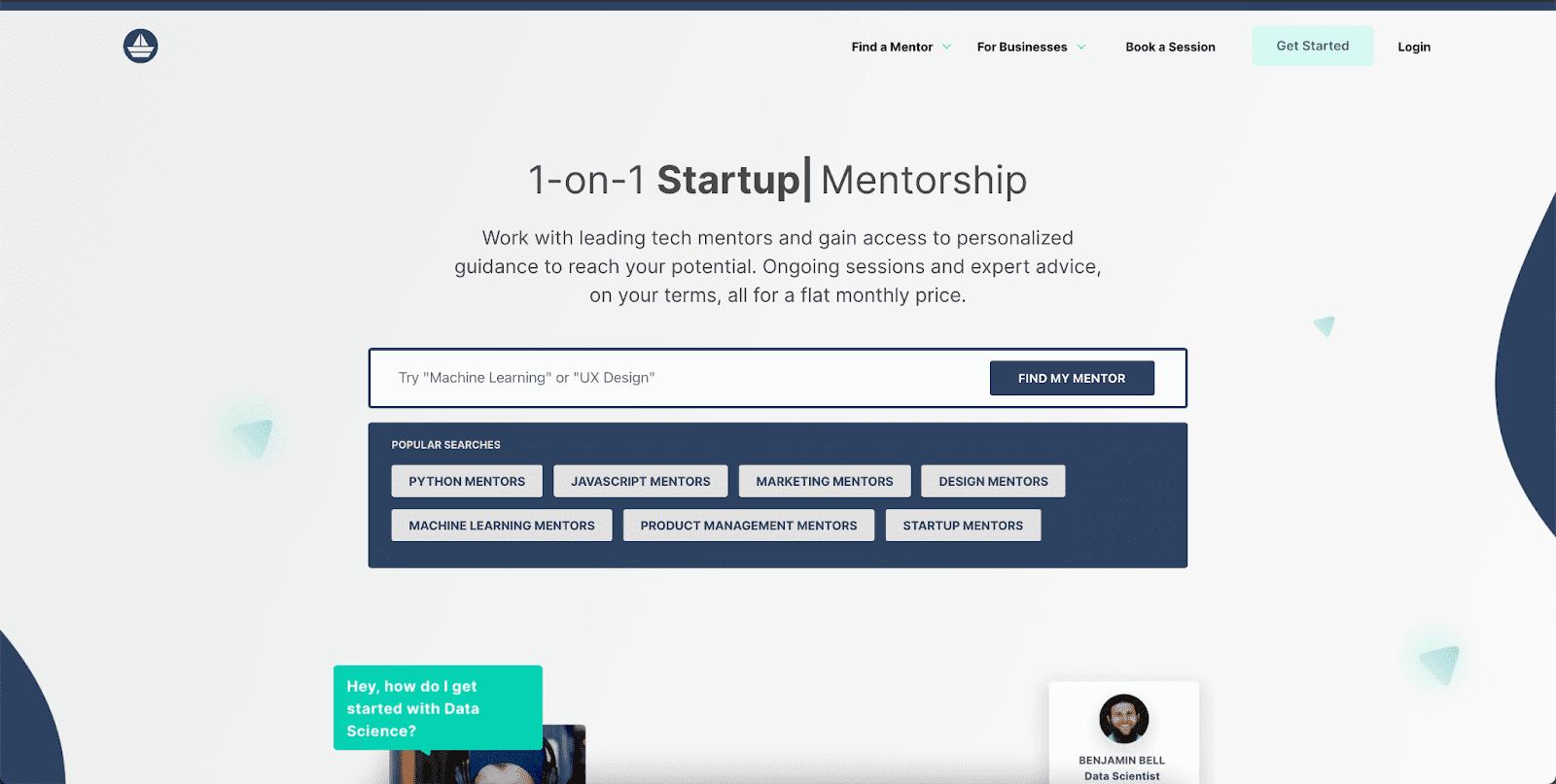 MentorCruise Landing Page