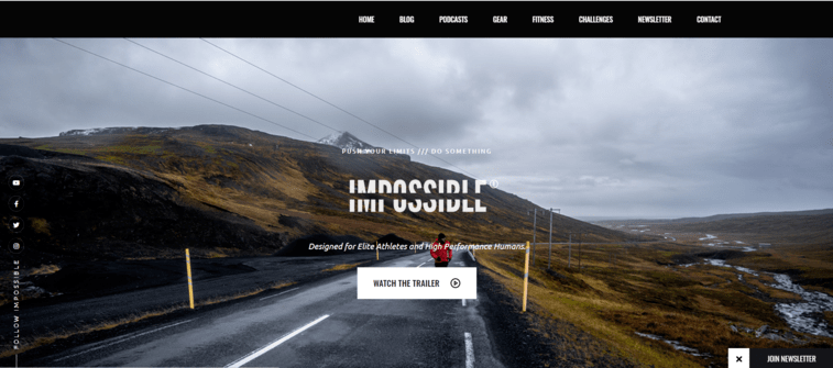 IMPOSSIBLE Landing Page