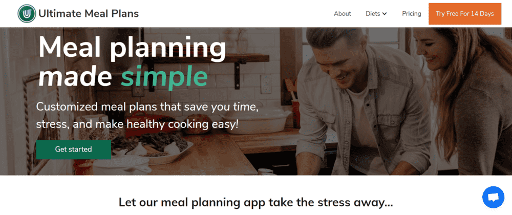Ultimate Meal Plans Landing Page