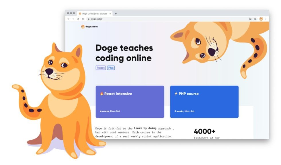 Doge Codes Landing Page
