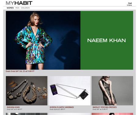 MyHabit Landing Page Amazon