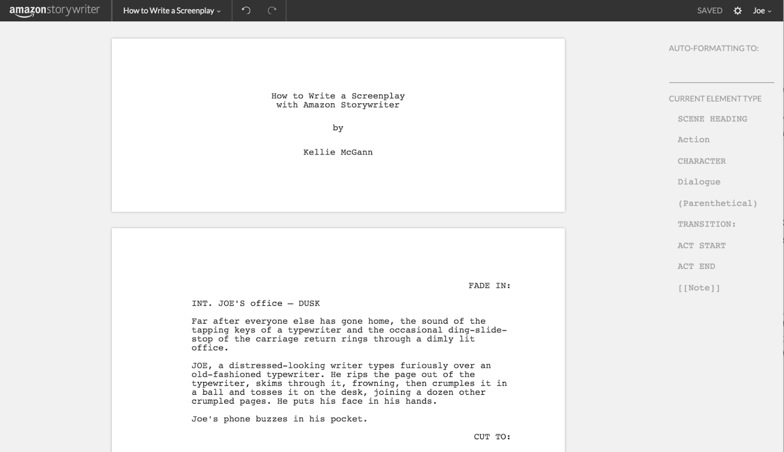 Amazon Storywriter Platform