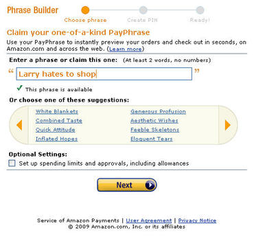 Amazon Payphrase Payment Solution