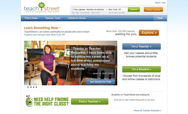 Amazon Teachstreet Landing Page