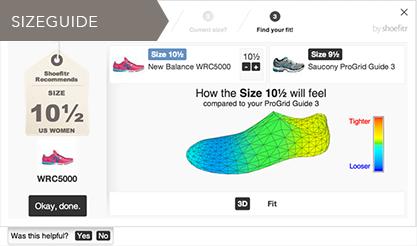 Amazon Shoefitr Sizeguide
