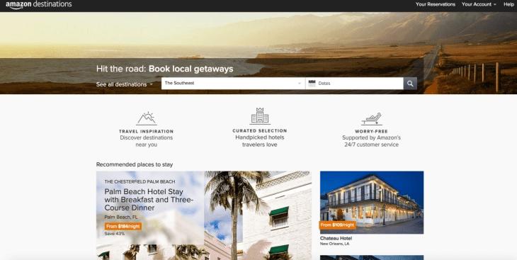 Amazon Destinations Landing Page