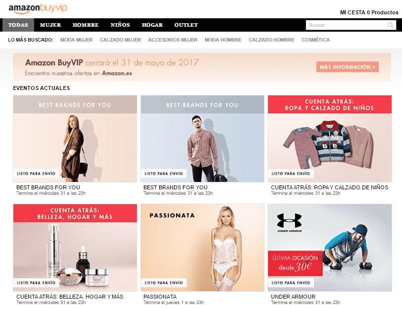 Amazon BuyVIP Landing Page