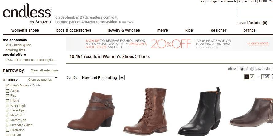 Endless Amazon E-commerce