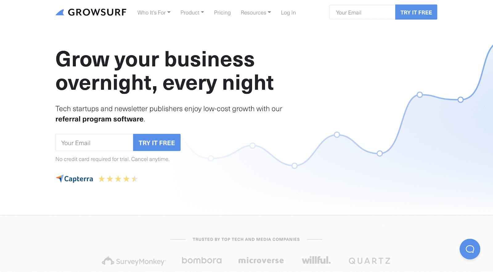 GrowSurf Landing Page
