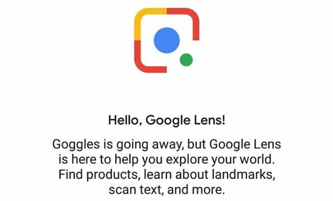 Google Lens notice