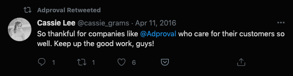 Adproval Word of Mouth