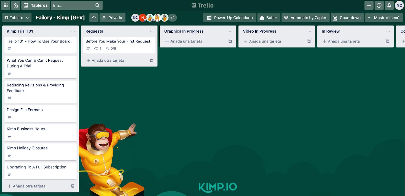 Kimp Trello Dashboard