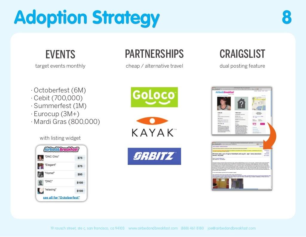 Airbnb Pitch Deck Adoption Strategy Slide