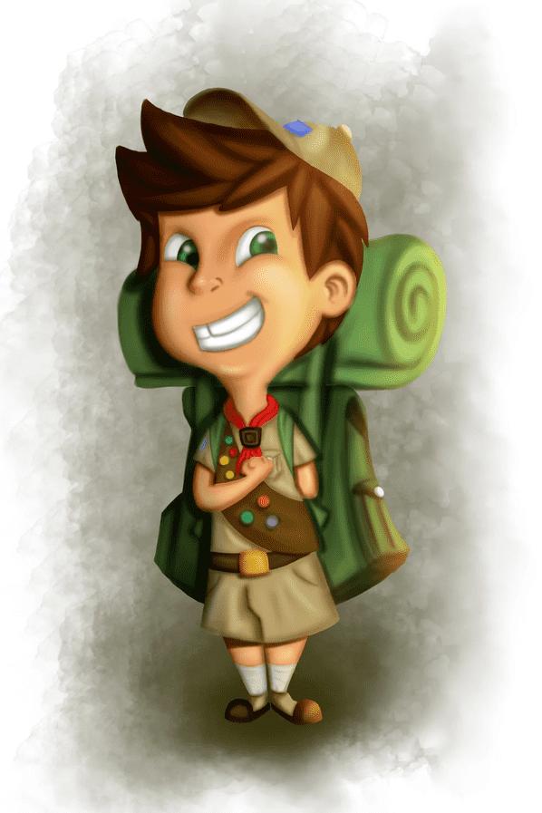 Kimp Boy Scout Illustration