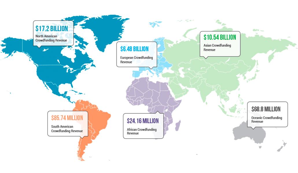 Crowdfunding map