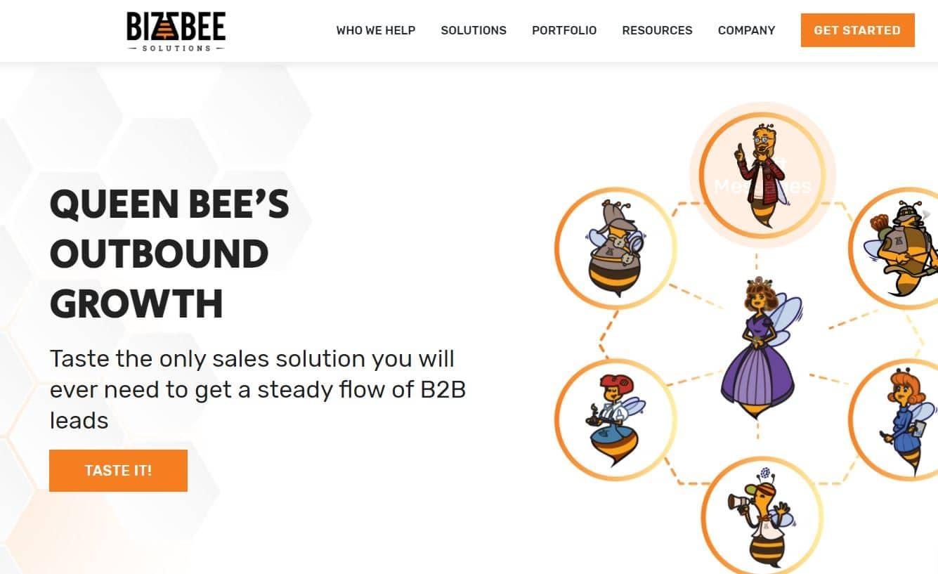 BizzBee Landing Page