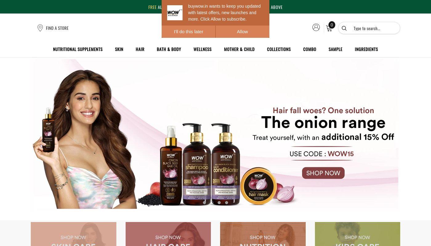 42) WOW Skin Science India Ltd