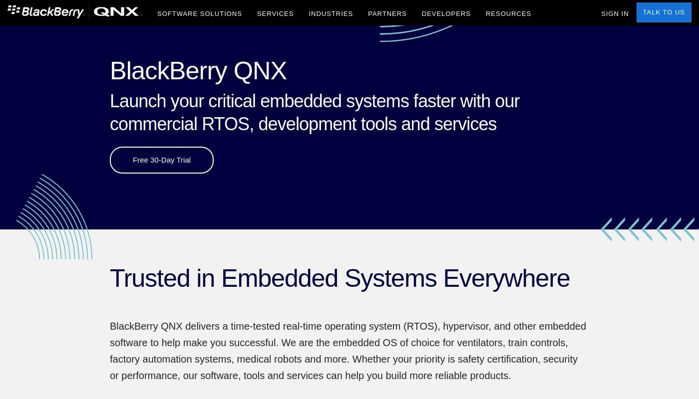 12) BlackBerry QNX