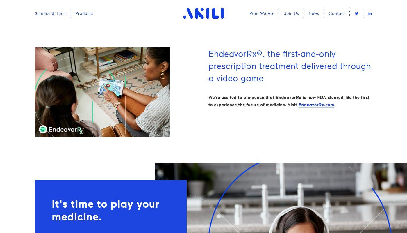 8) Akili Interactive Labs