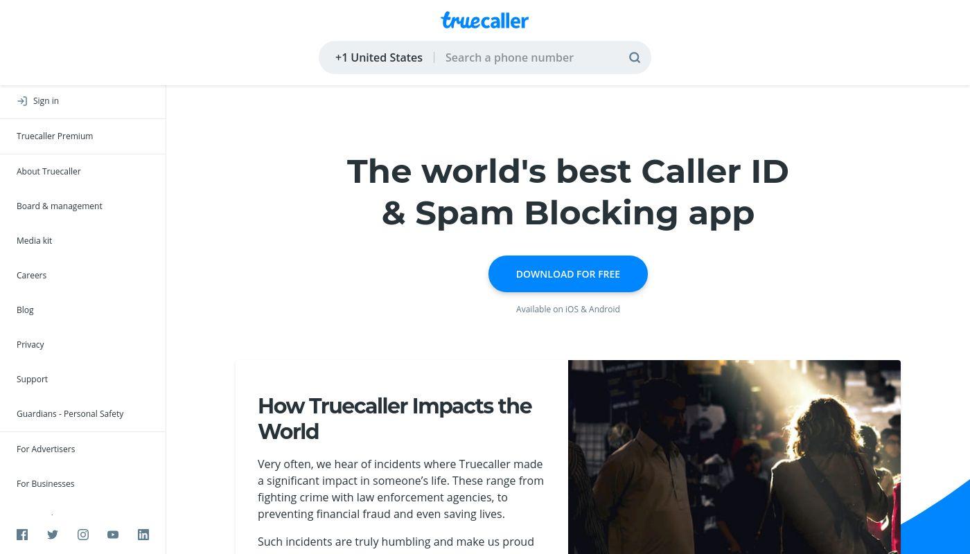 70) Truecaller