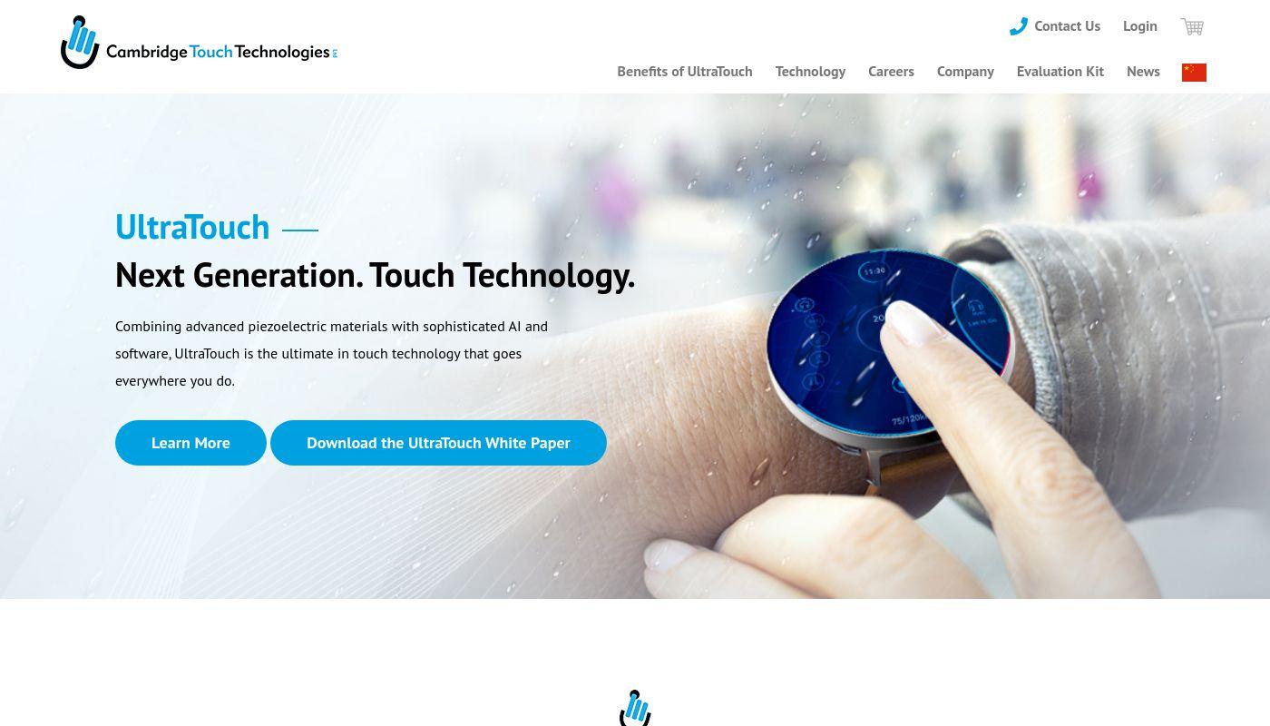 55) Cambridge Touch Technologies