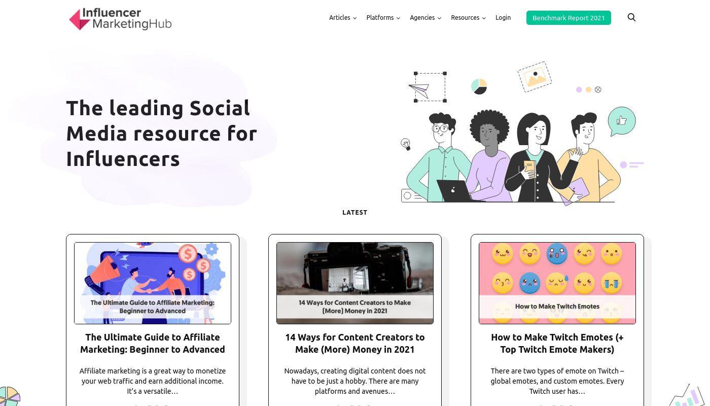 3) Influencer Marketing Hub