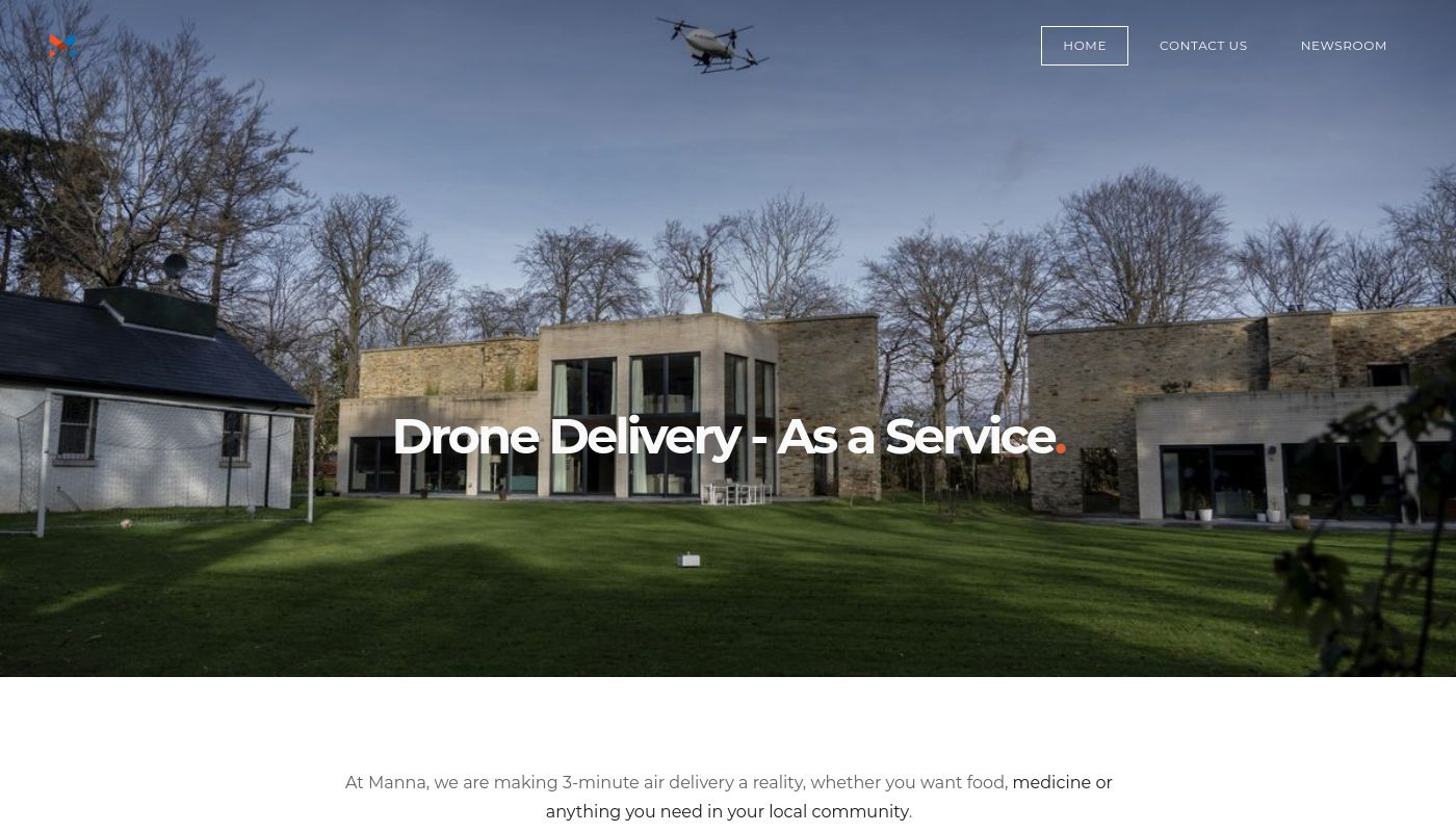 15) Manna Drone Delivery