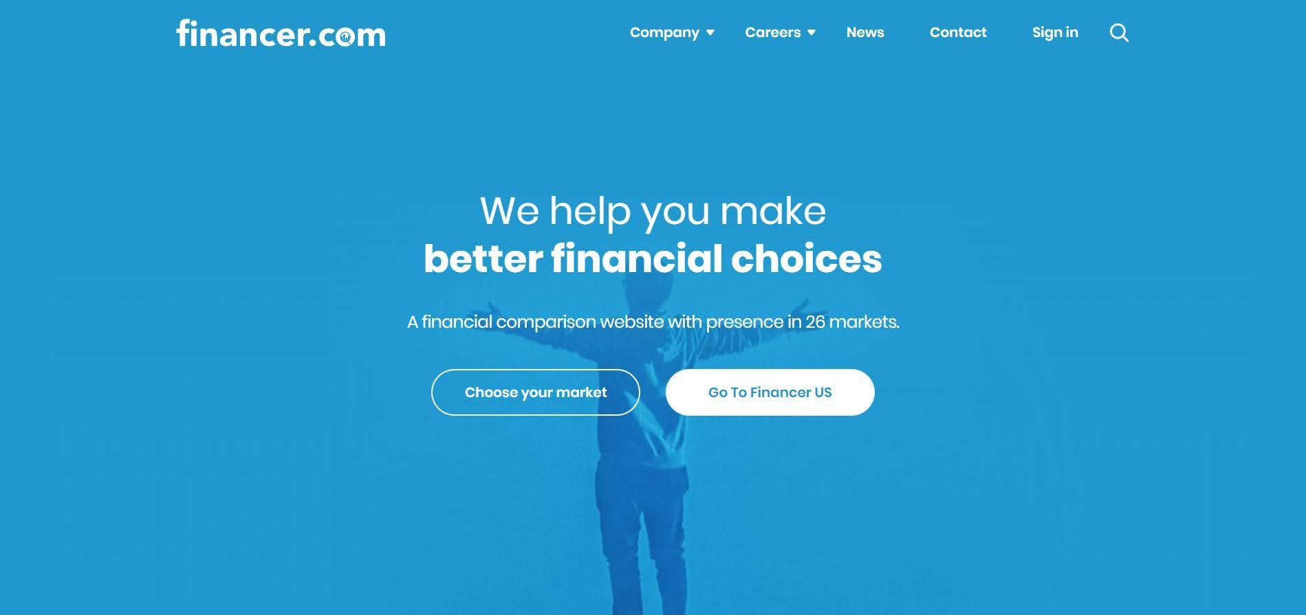 Financer Landing Page