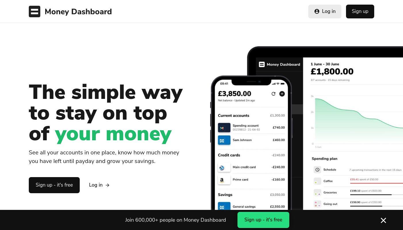 10) Money Dashboard