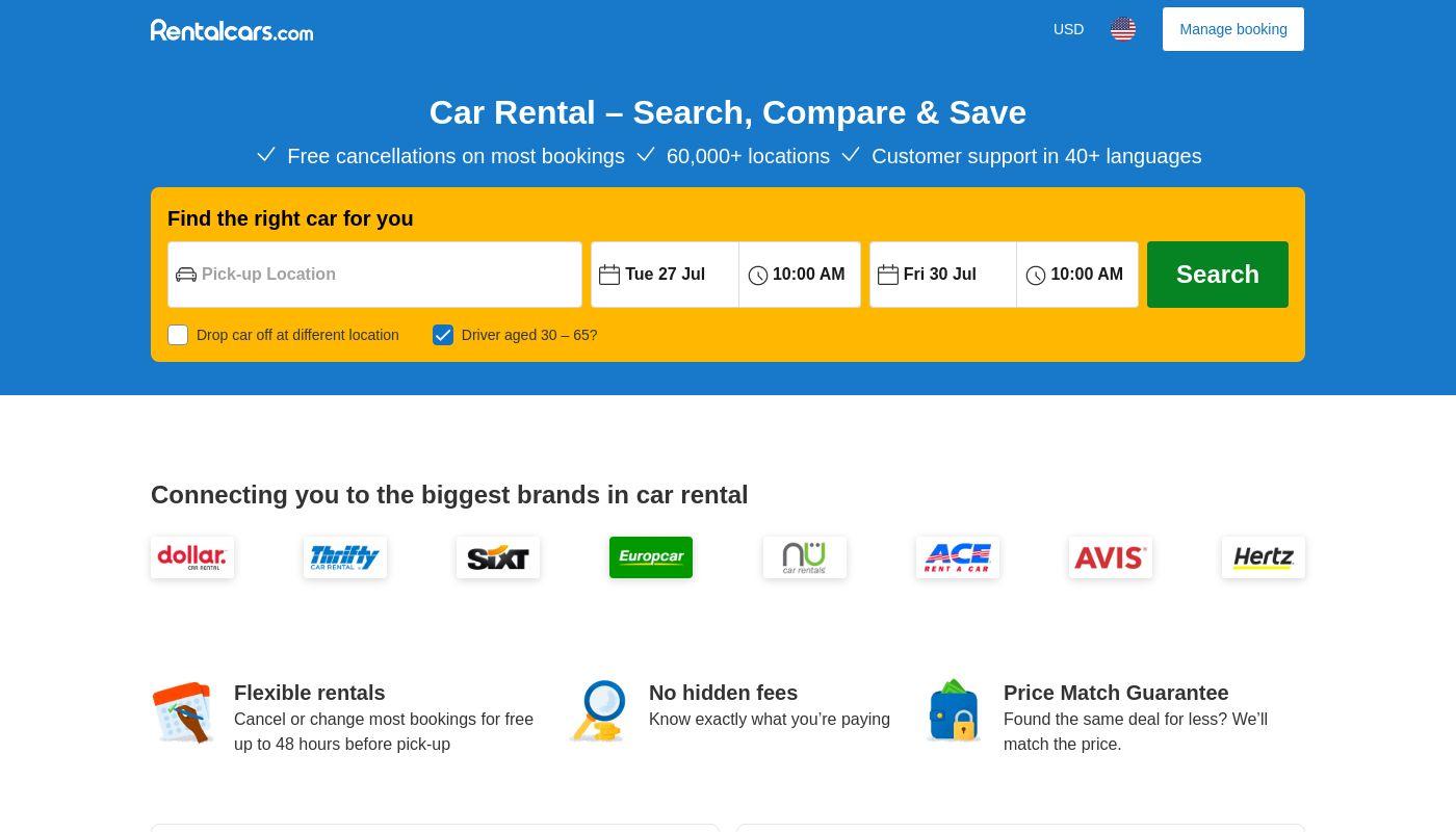 71) rentalcars.com