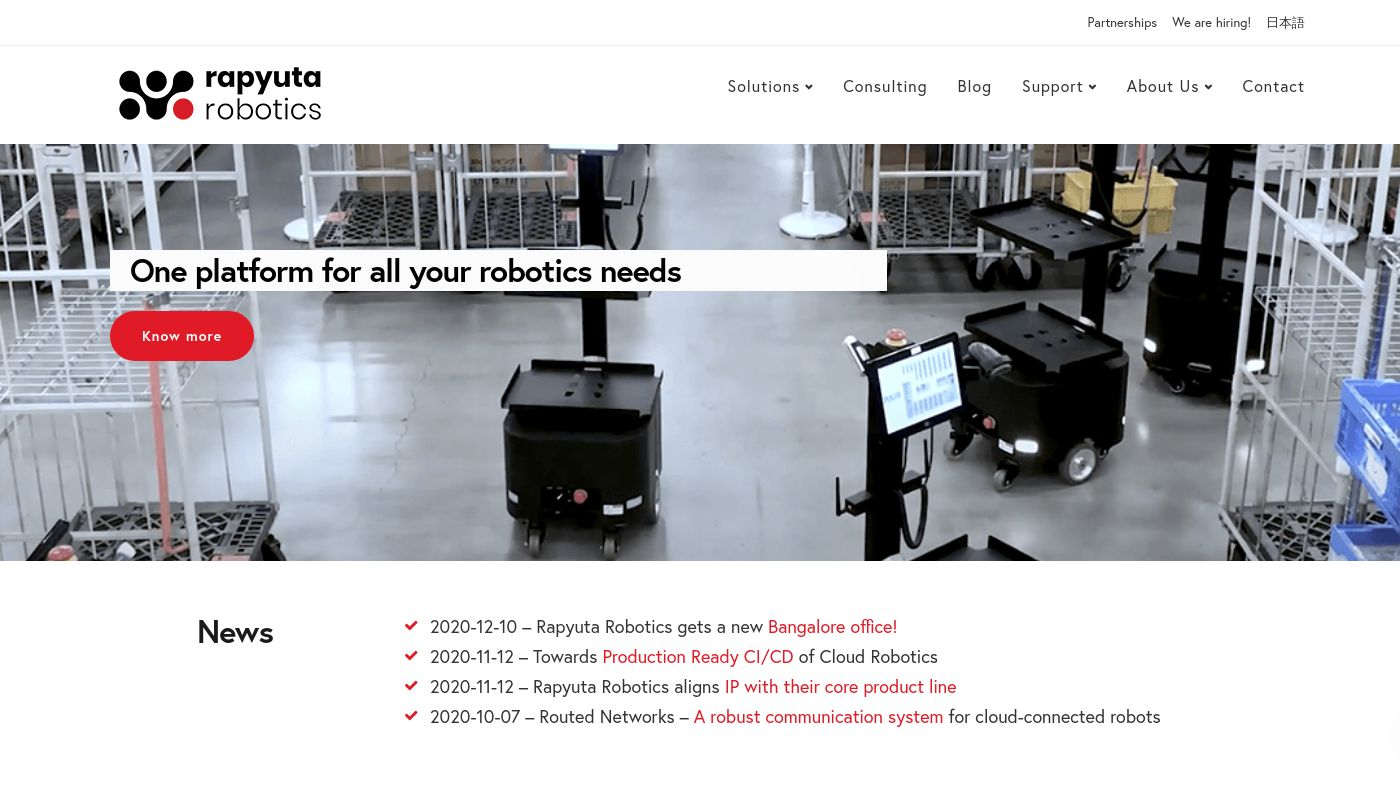 63) Rapyuta Robotics