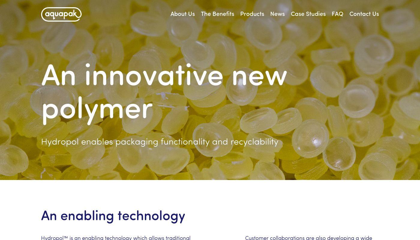 54) Aquapak Polymers