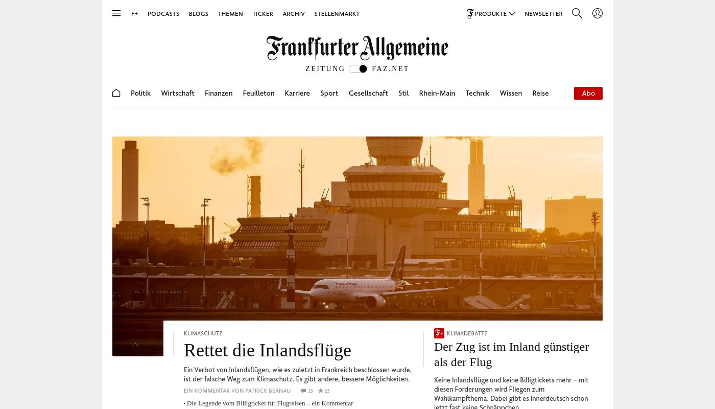 26) Frankfurter Allgemeine Zeitung