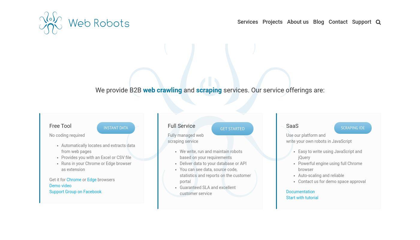 37) Web Robots