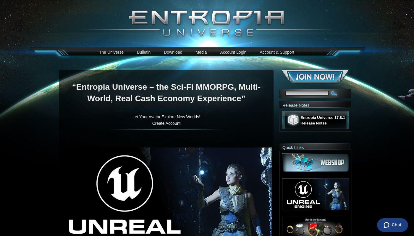 268) Entropia Universe