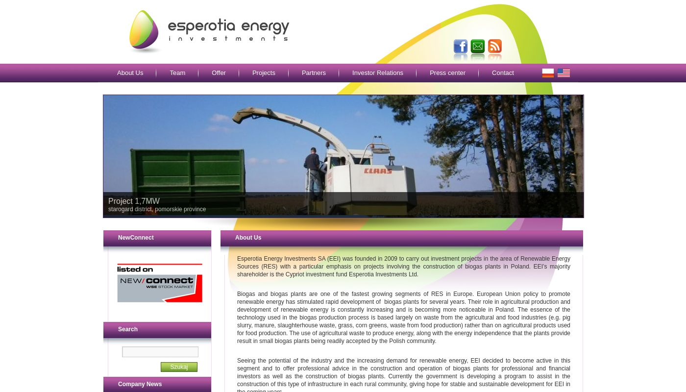 171) Esperotia Energy Investments