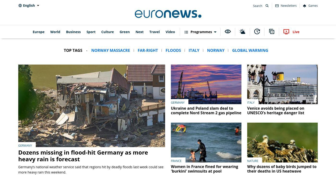 91) Euronews