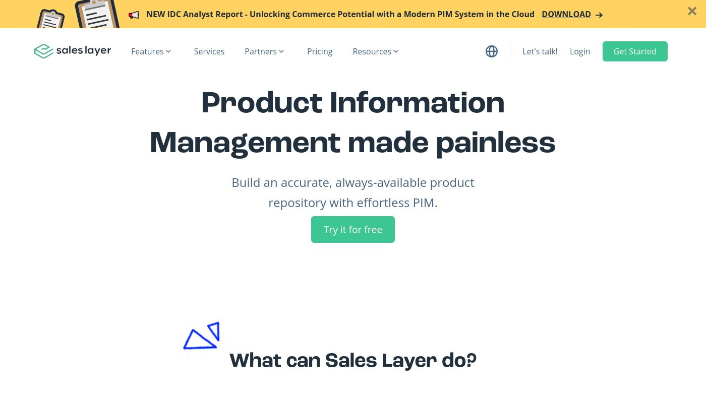 1) Sales Layer