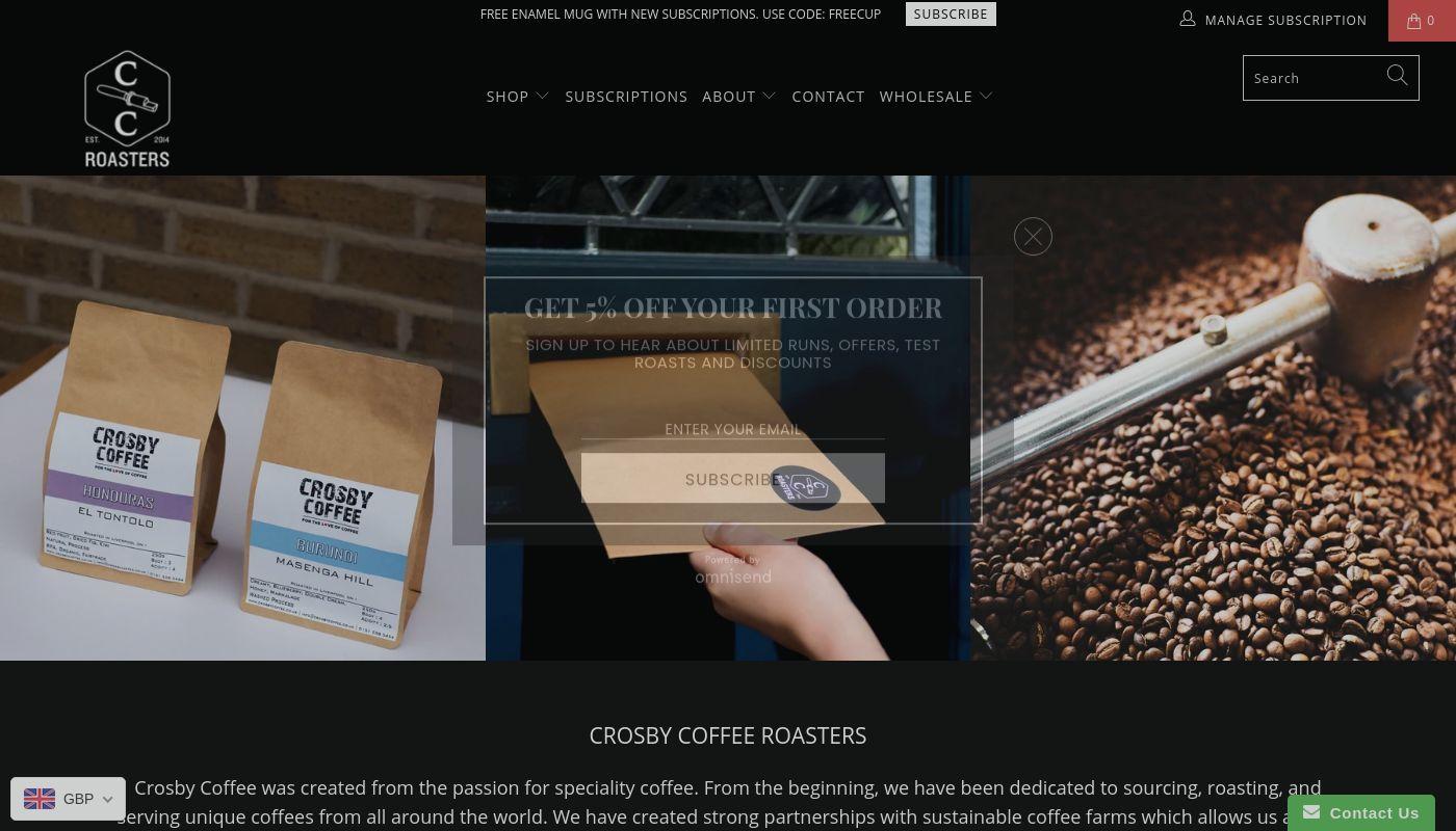 62) Crosby Coffee