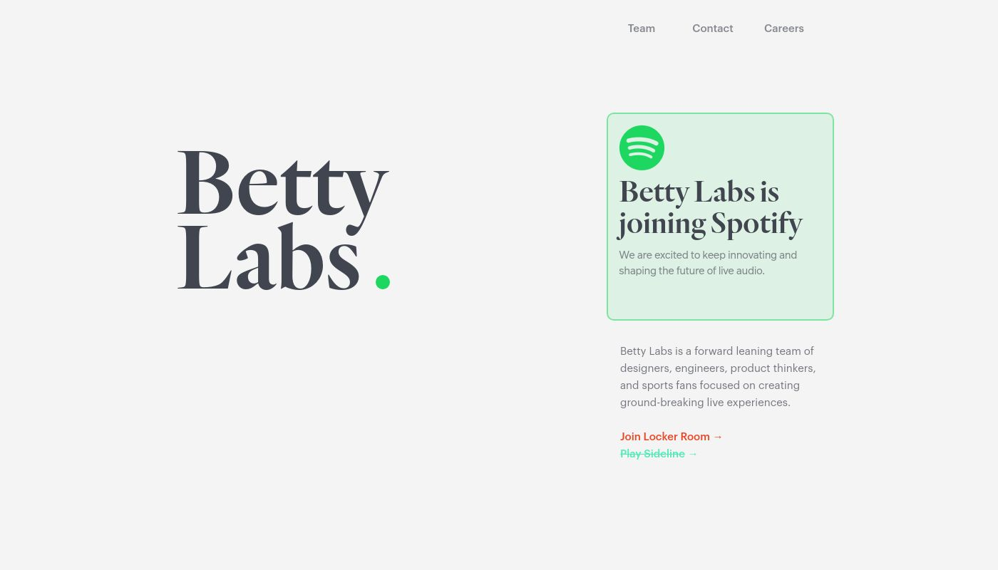 21) Betty Labs