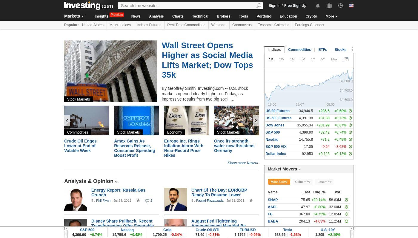 10) Investing.com