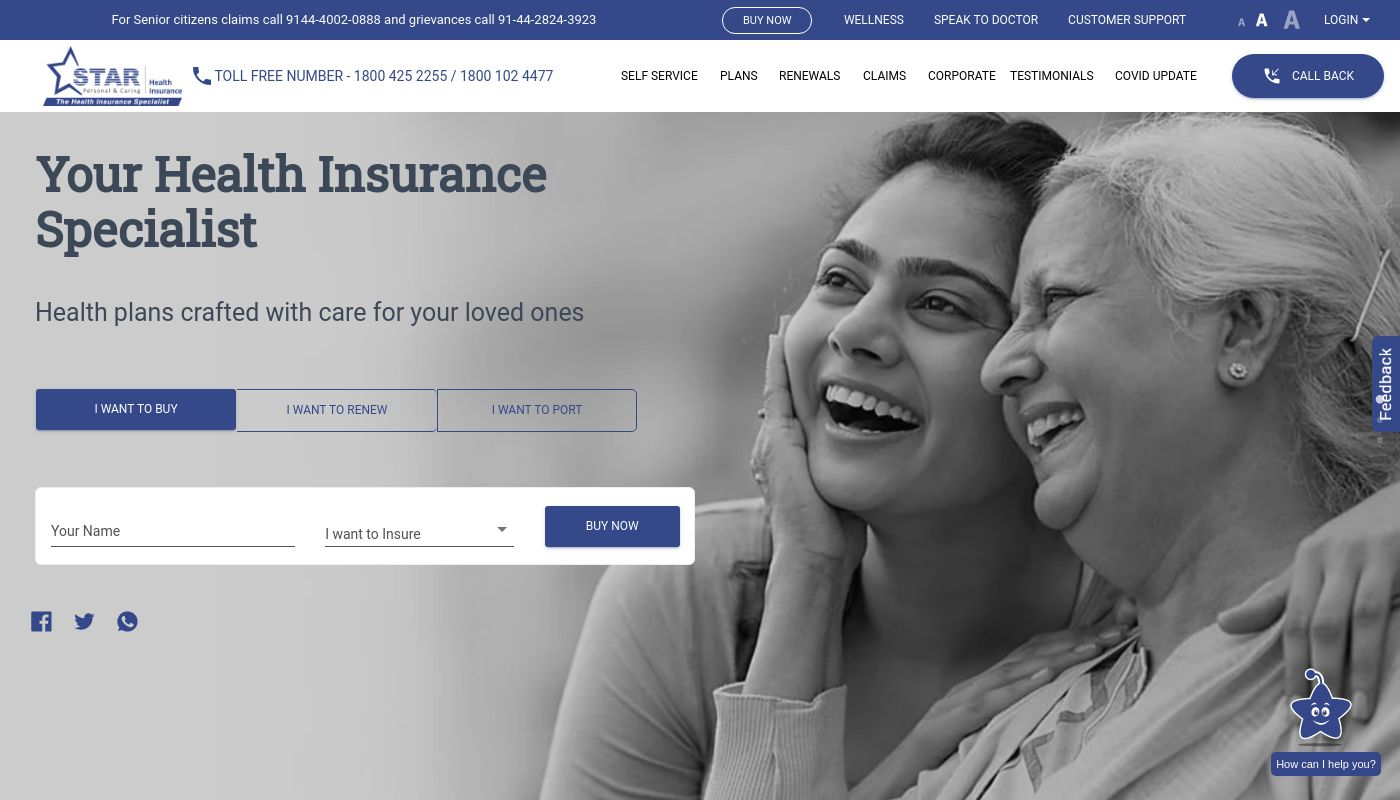 250) Star Health and Allied Insurance