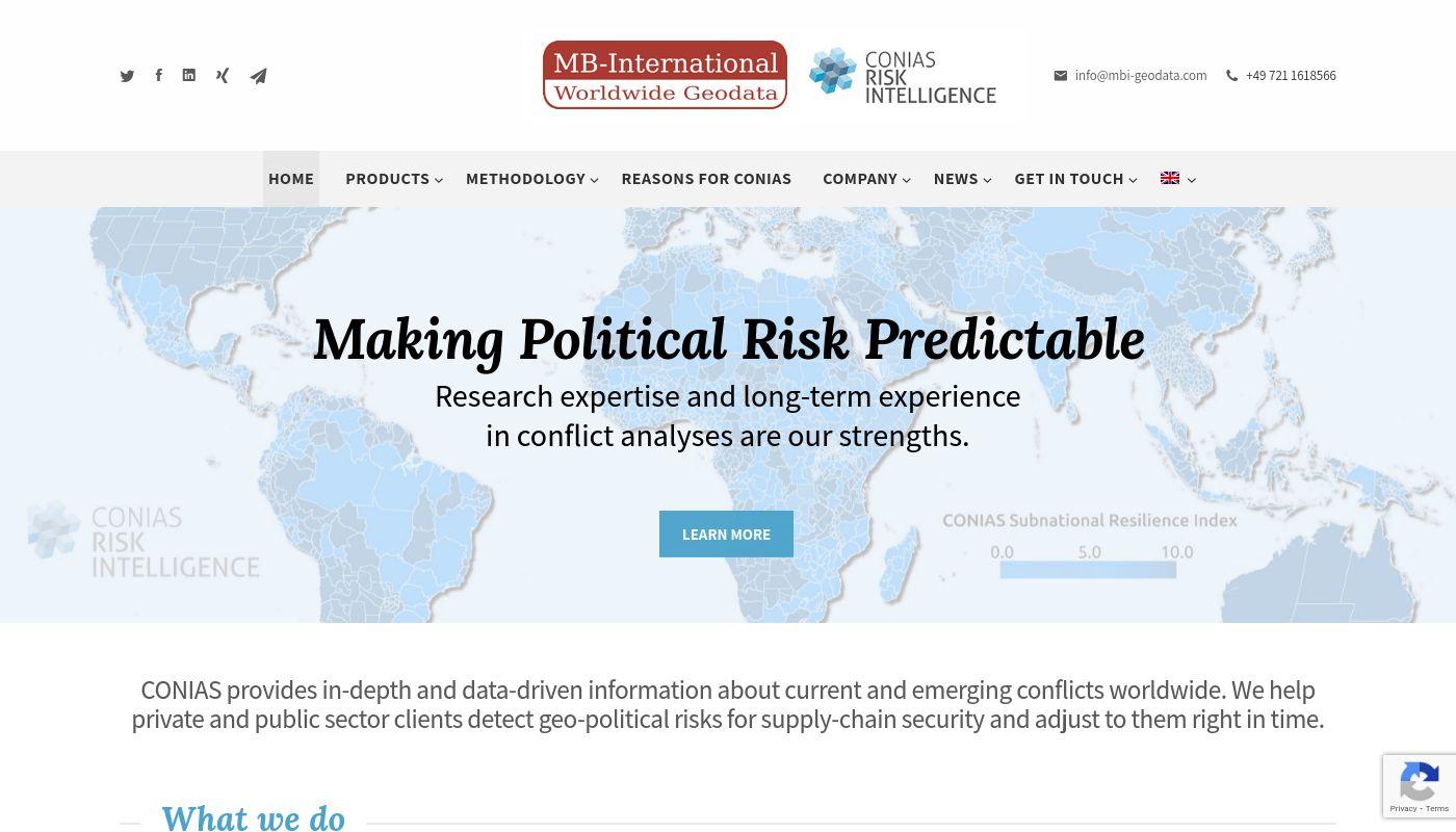 7) CONIAS Risk Intelligence