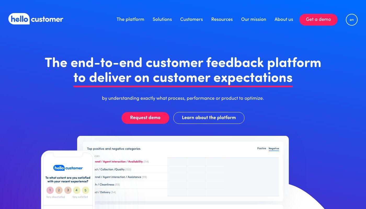 2) Hello Customer