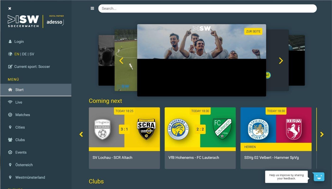13) Soccerwatch.tv