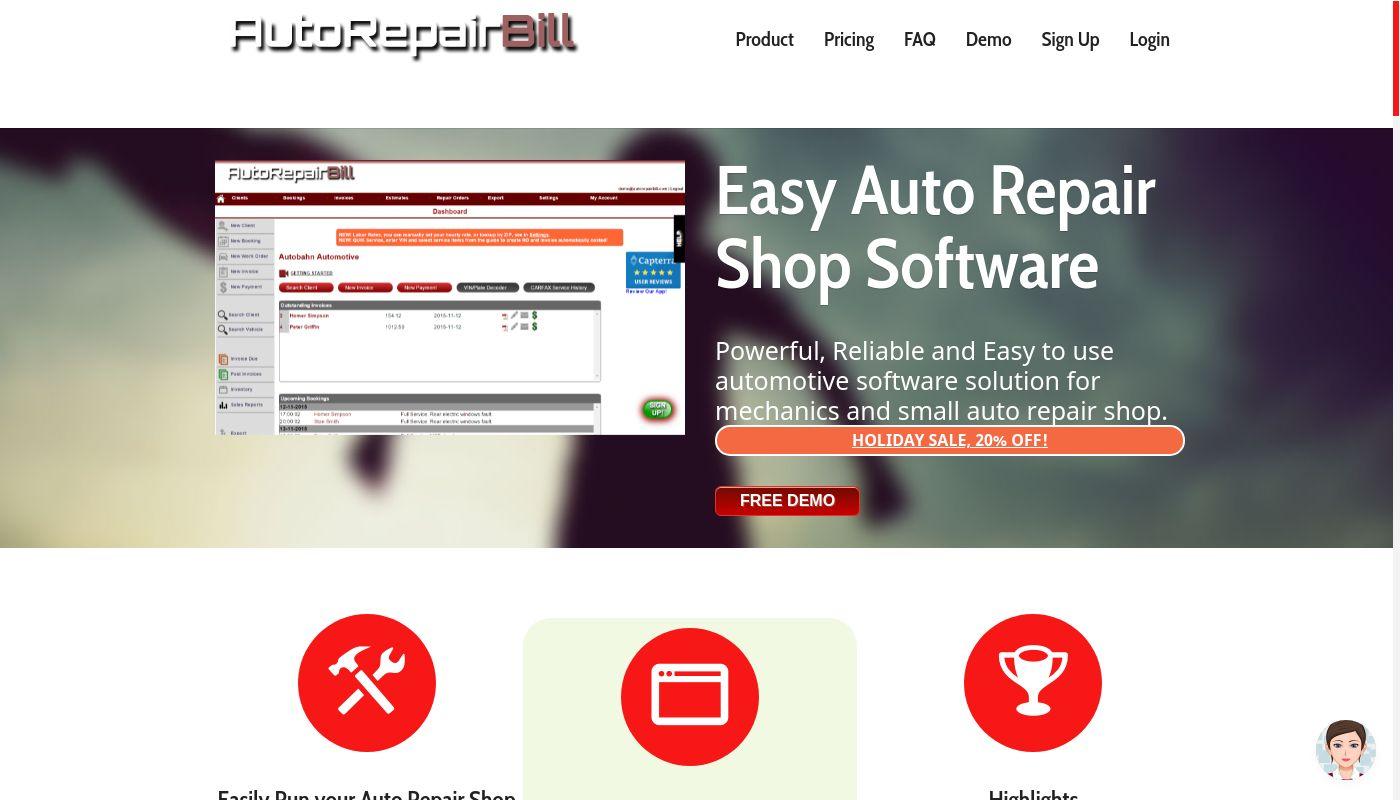 203) Auto Repair Bill