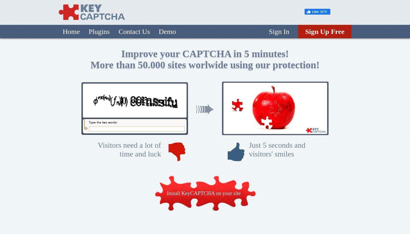 127) KeyCAPTCHA