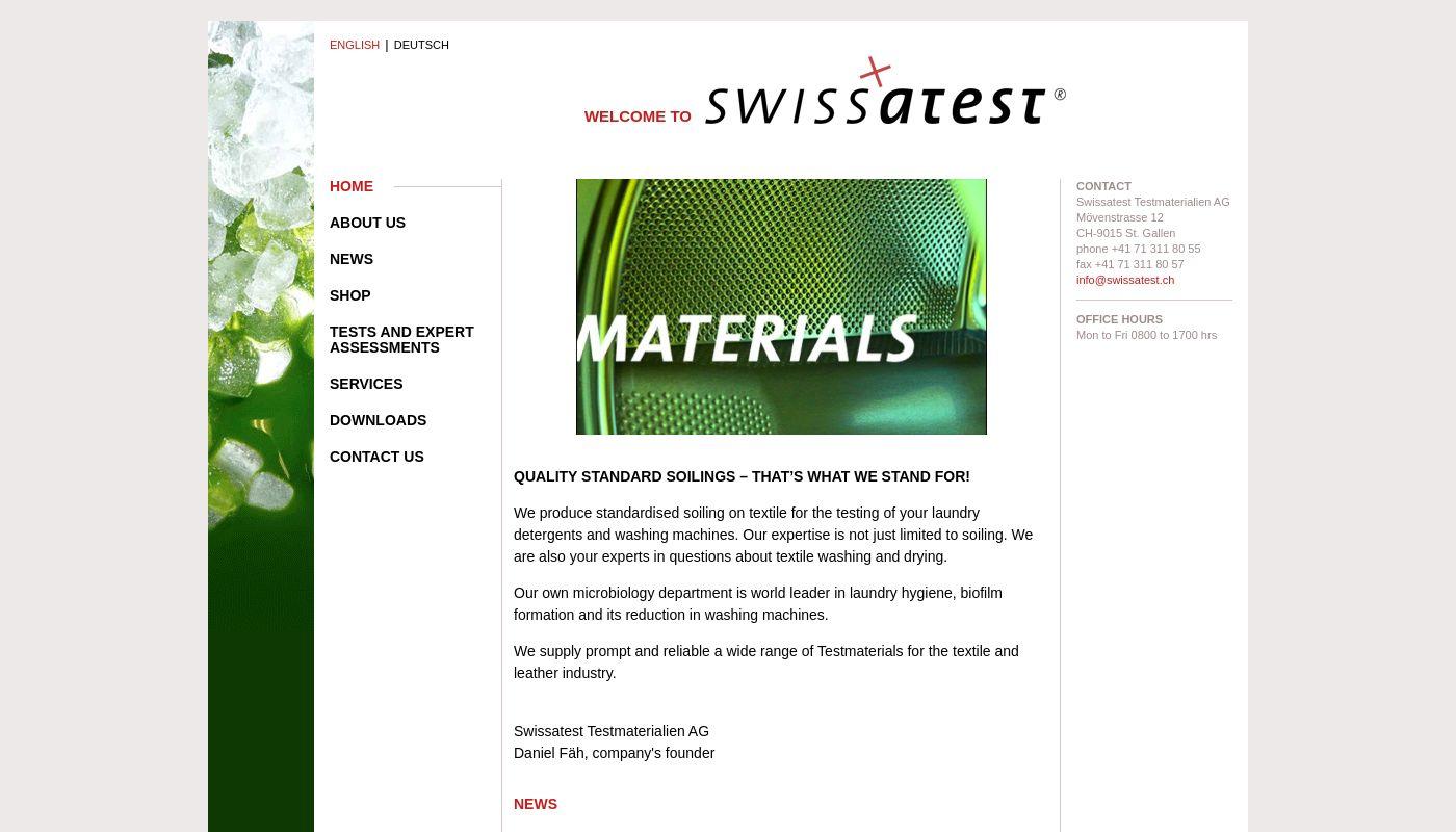 17) Swissatest Testmaterialien