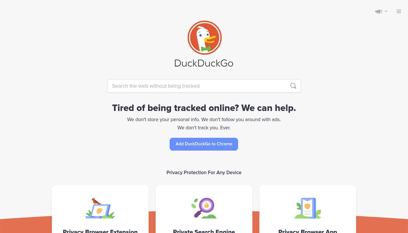 6) DuckDuckGo