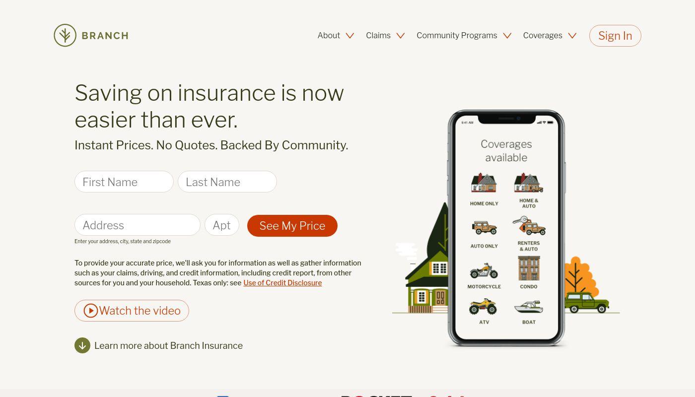 3) Branch Insurance